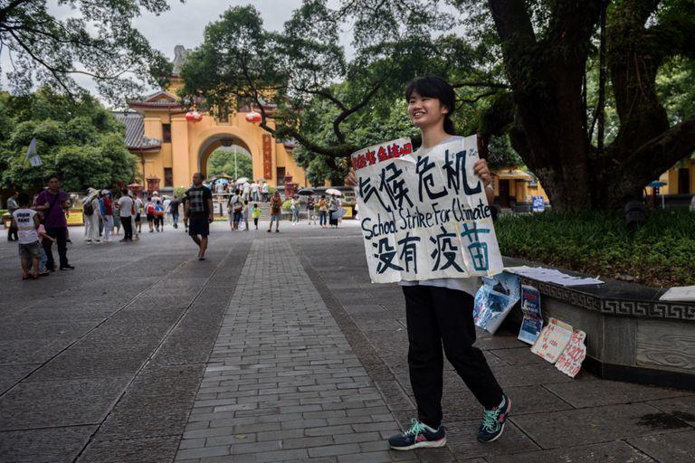 Clima: la solitaria lucha de la Greta Thunberg china