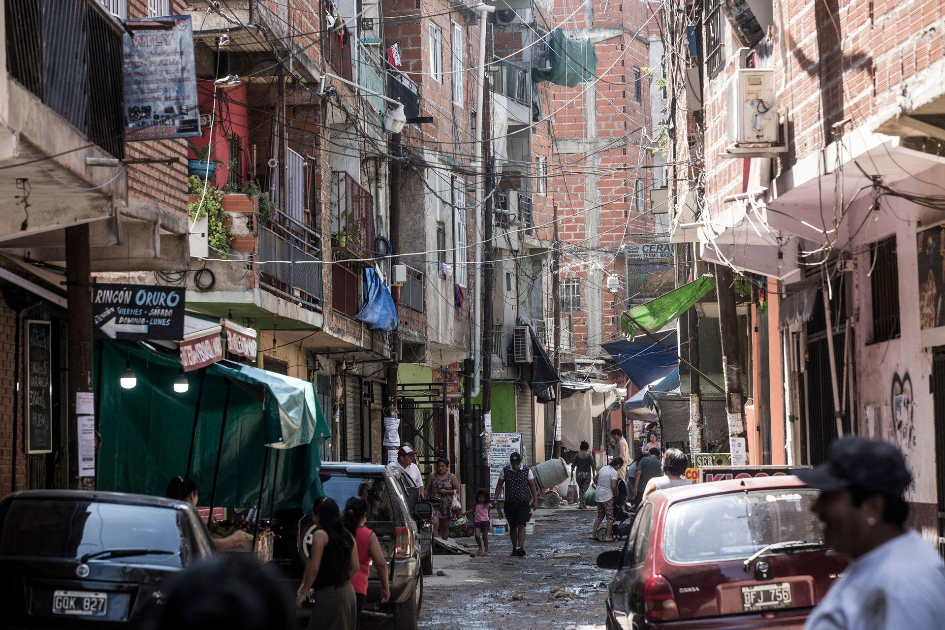 Coronavirus en barrios vulnerables, imagen de la Villa 1-11-14