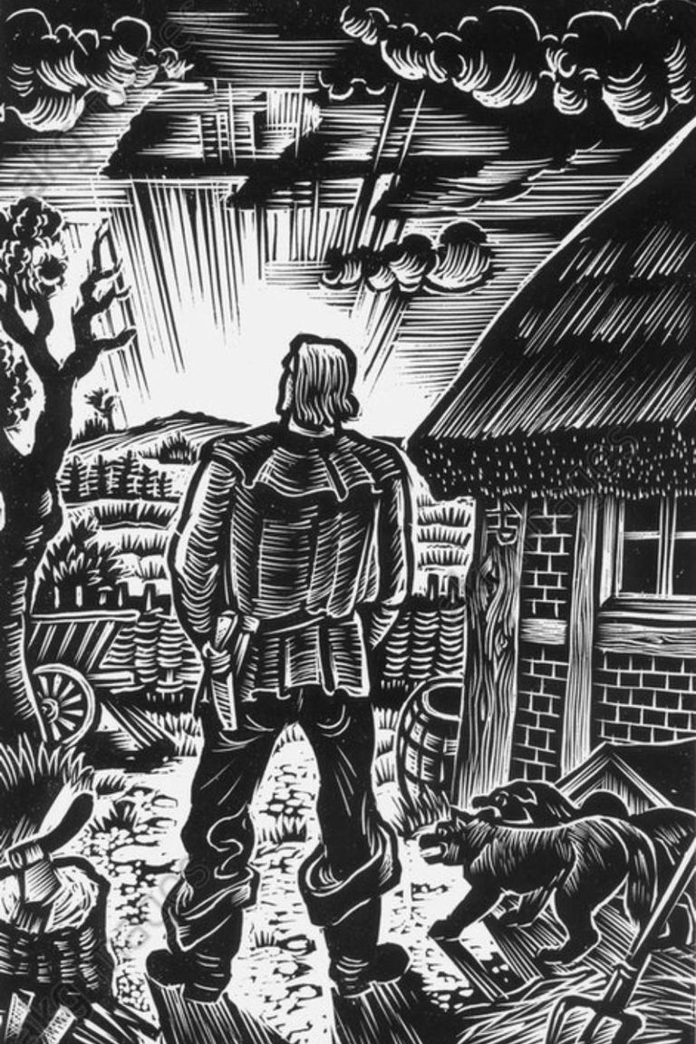 """Una ilustración incluida en el libro """"Wehrwolf"""", de 1910, que produjo un fuerte impacto en la jerarquía nazi"""