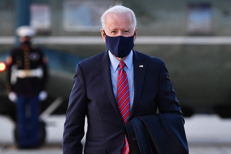 El presidente de EE. UU. Joe Biden, en Maryland