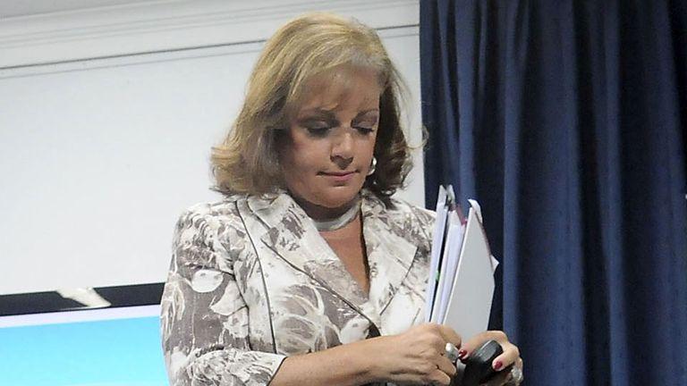 Nilda Garré, diputada nacional por el Frente para la Victoria