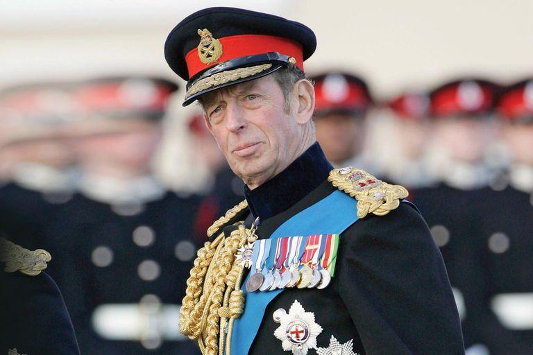 Eduardo de Kent durante un desfile en la Academia Militar de Sandhurst en Surrey, en diciembre de 2005.