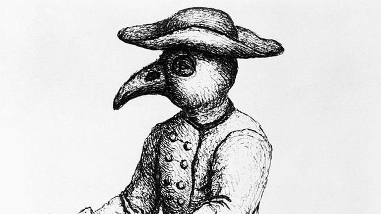 La máscara que se usó durante la peste negra se llenaba con hierbas aromáticas para contrarrestar los miasmas.