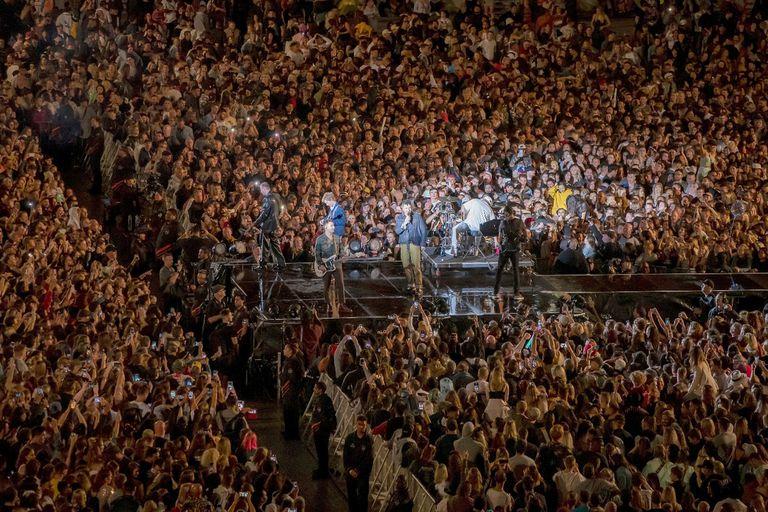 Un recital en Eden Park, en Auckland, con más de 50.000 personas en abril pasado