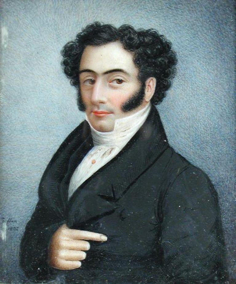 Retrato de un caballero de cabello oscuro, Sarah Biffen.