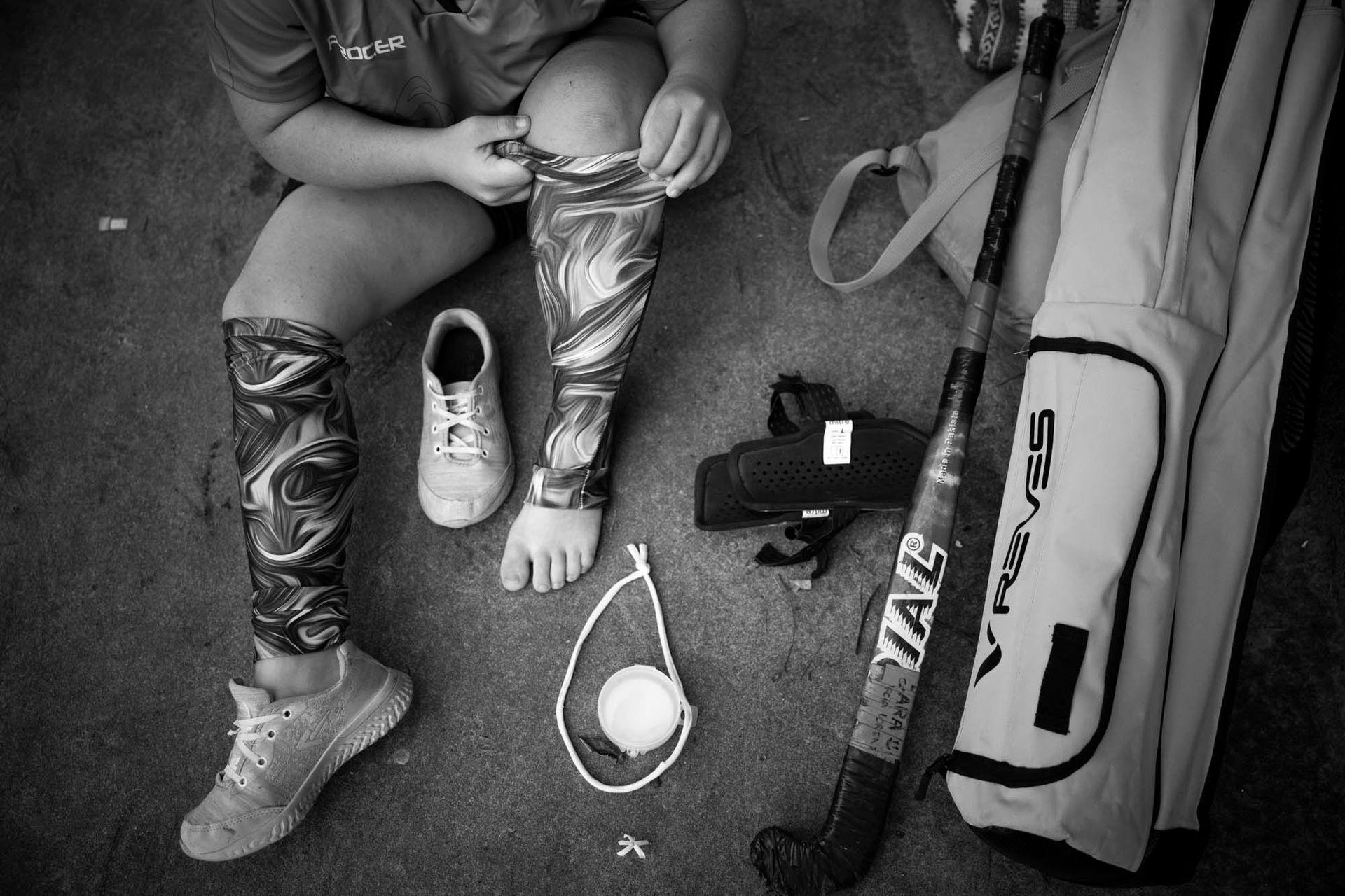 Entrenamiento de Las Lionas, selección de hockey femenino de chicas con síndrome de Down