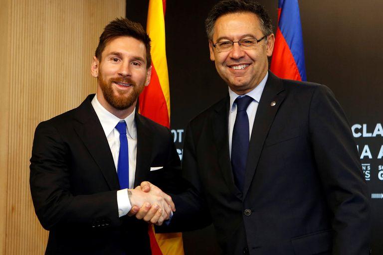Bartomeu y Messi, en otras épocas. La relación entre ambos termnió muy mal.