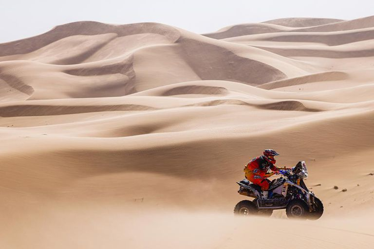 Pablo Copetti logró la primera victoria de un piloto argentino en territorio saudí en el Rally Dakar 2021; el cordobés participa con licencia estadounidense y el motor tiene el sello de Oreste Berta
