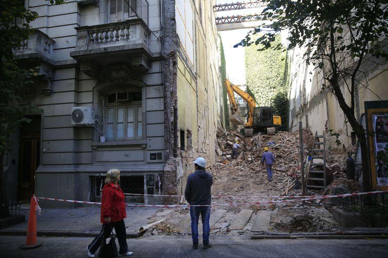 Recoleta: demolieron el petit hotel de María Julia Alsogaray