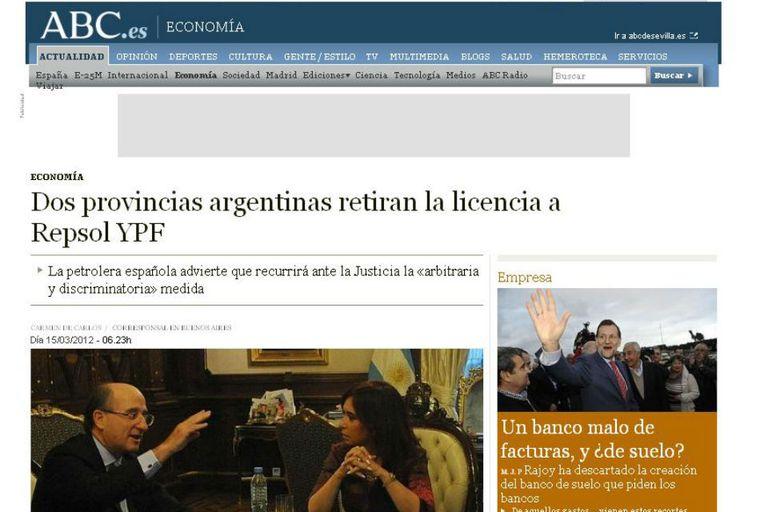"""El diario ABC aseguró que el Gobierno continúa con su """"acoso"""" a YPF"""