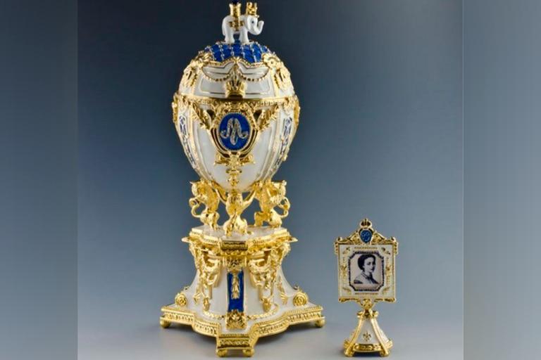 Uno de los huevos que Fabergé confeccionó en honor a la zarina