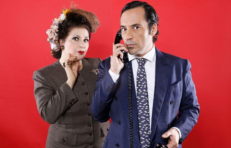 Karina K y Diego Velázquez, en el ciclo Radioteatros, de Casa Sofía