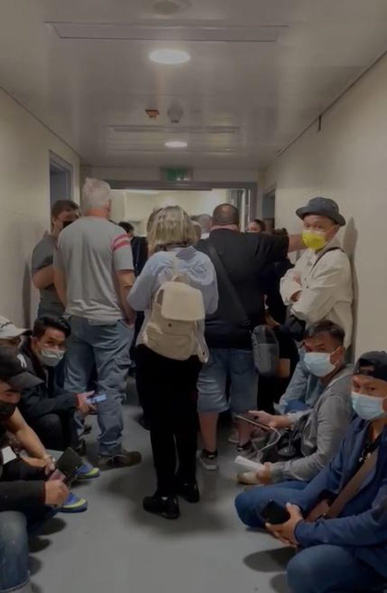 Refugio en el aeropuerto de Israel