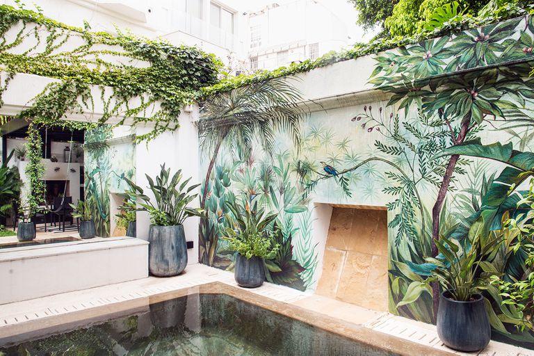 Murales: inspiración para sumar color a galerías, jardines, patios y terrazas