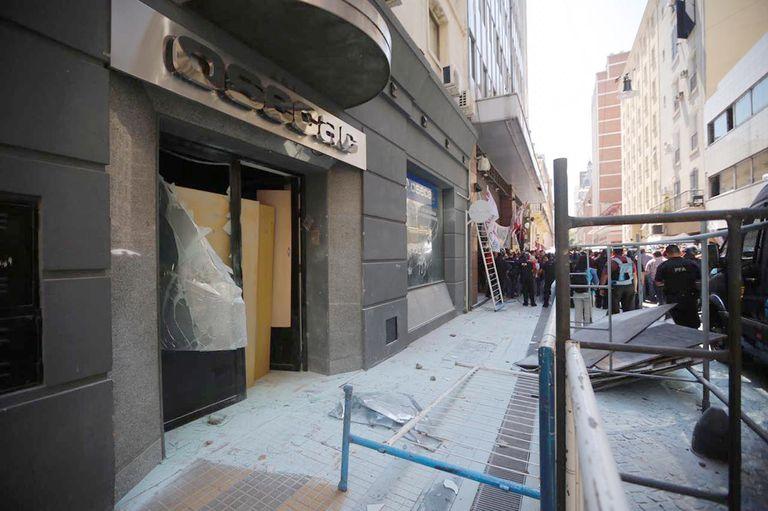 Incidentes en la sede del sindicato de Comercio por la asunción de Cavalieri