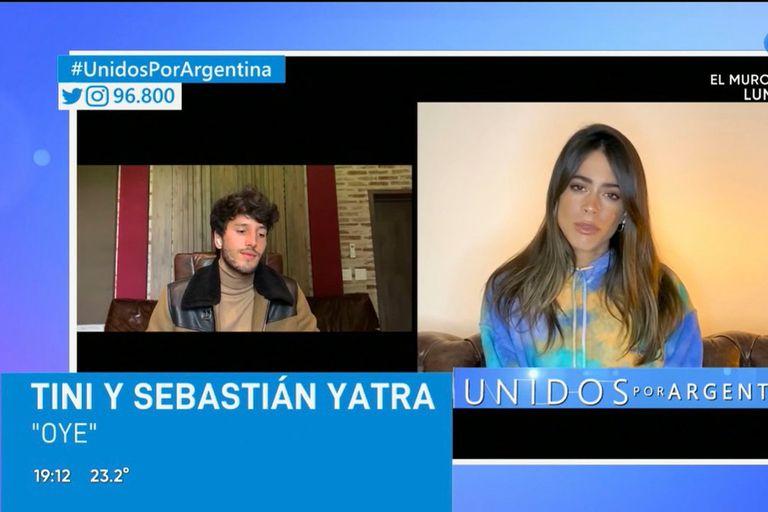 Unidos por Argentina. Sebastian Yatra y Tini