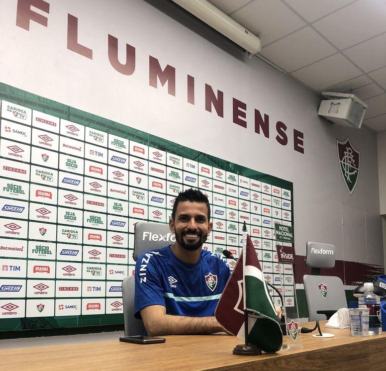 """Marcos Felipe, arquero de Fluminense, dijo este jueves en conferencia de prensa sobre Enzo Pérez: """"No hizo nada extraordinario"""""""