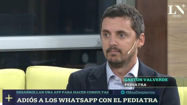 Gastón Valverde desarrolló una app para evitar que los pediatras reciban consultas por Whatsapp