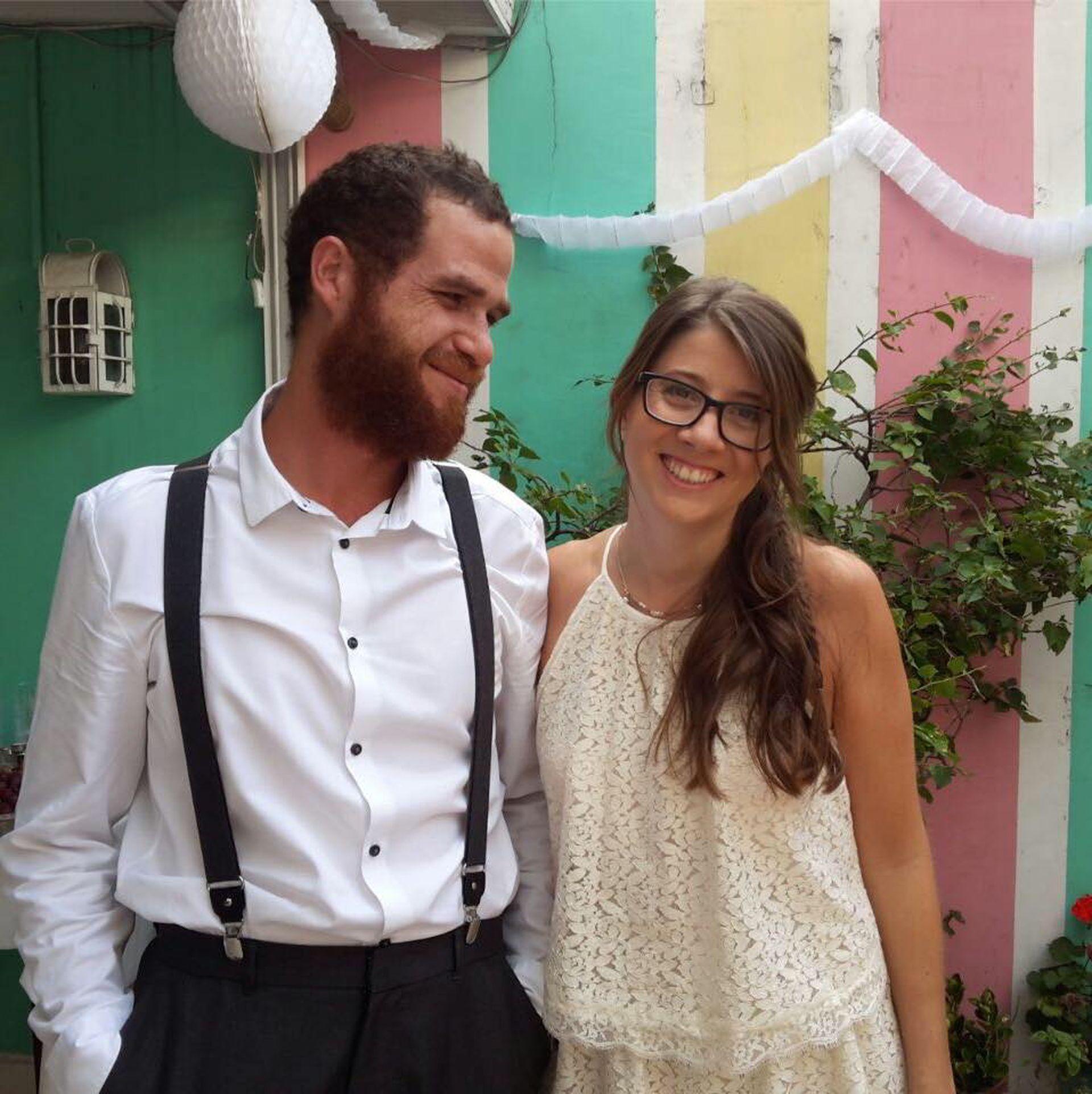 Mariño y Micaela Hierro se casaron en Buenos Aires en abril de 2017