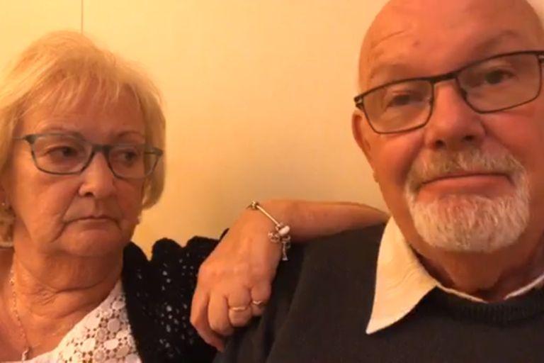 Los pasajeros británcios Sally y David en uno de los tantos videos subidos a Facebook desde que el crucero Diamond Princess fuera puesto en cuarentena a principios de febrero