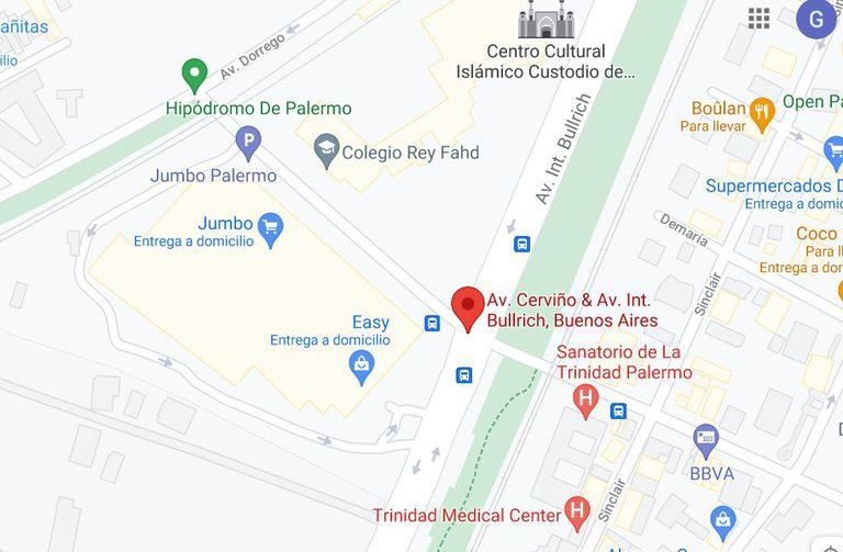 El Pabellón del Centenario está emplazado en la Avenida Bullrich y Cerviño