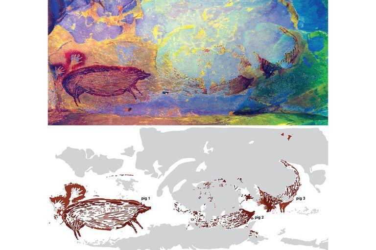 Los expertos analizaron la escena narrativa más antigua conocida en el arte prehistórico