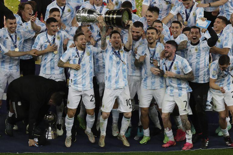 Copa y alegría para todos: así festejó la selección en el Maracaná
