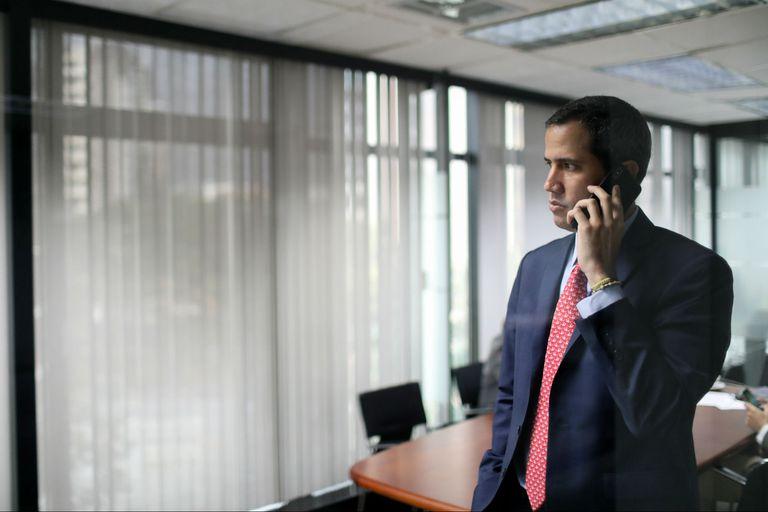 El líder de la oposición Juan Guaidó