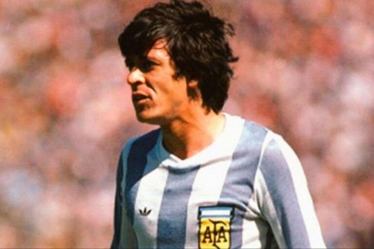 René Houseman durante el Mundial 1978