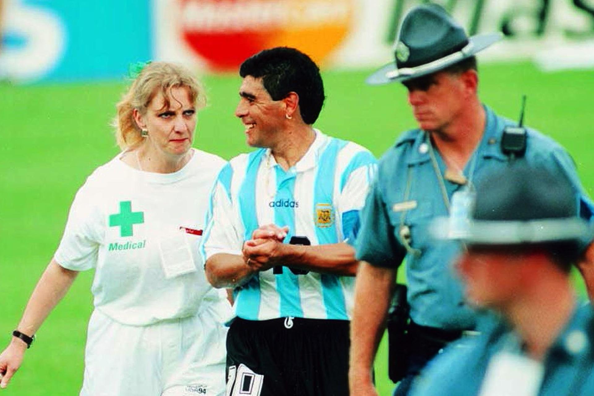 Estados Unidos . Uno de los sinsabores, camino al control antidoping en la Copa del Mundo de 1994