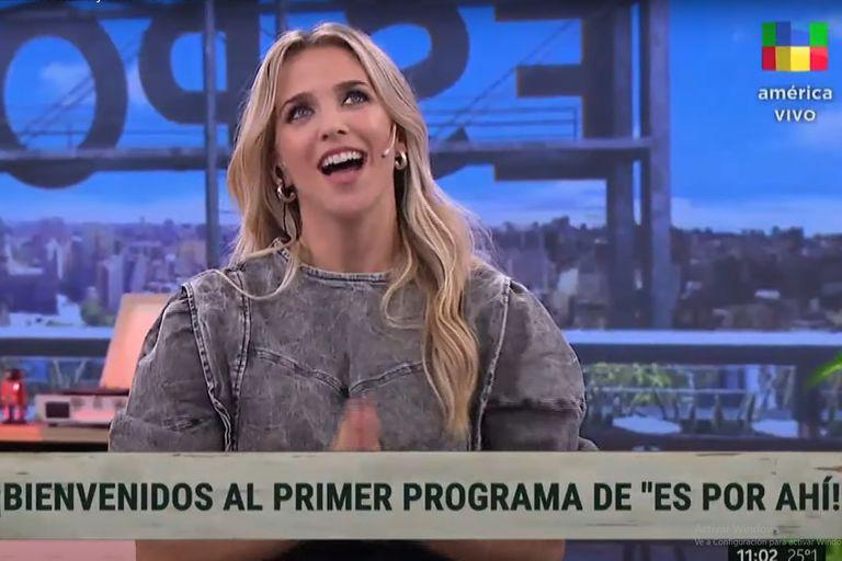 Soledad Fandiño, al empezar el ciclo Es por ahí, el nuevo magazine de América
