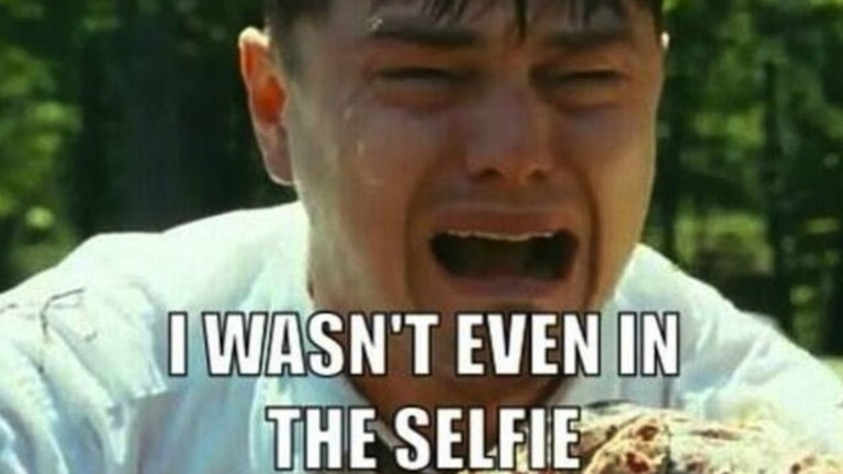 Leo quería estar en la selfie de Ellen