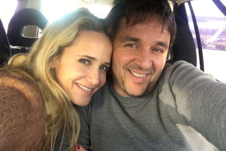 Julieta Prandi junto a su exmarido, Claudio Contardi