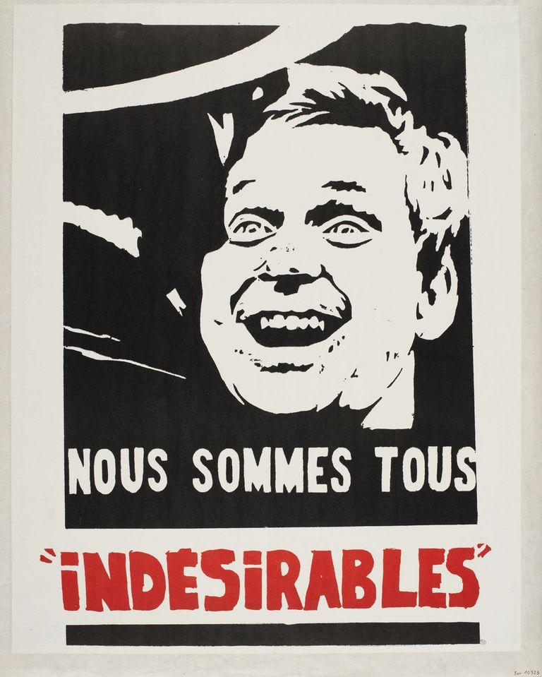 Imágenes icónicas. Afiche con el rostro de Dany el Rojo