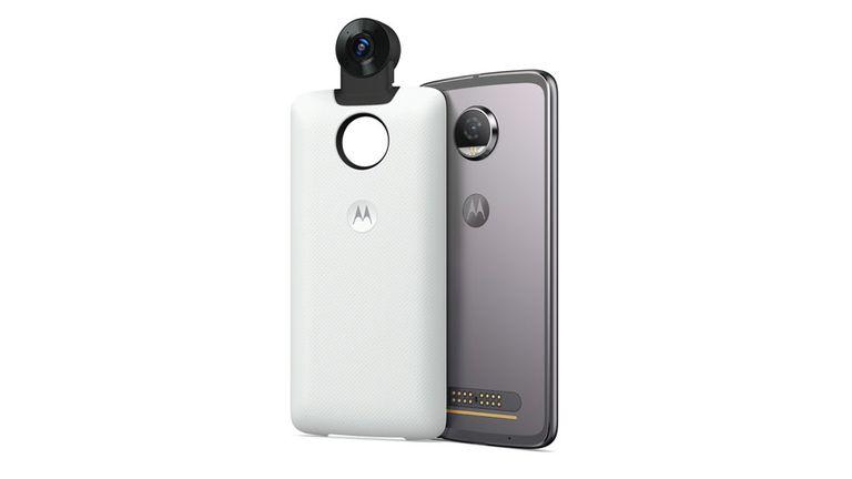 El Moto Mod 360 graba video 4k en 360 grados y también registra audio 3D