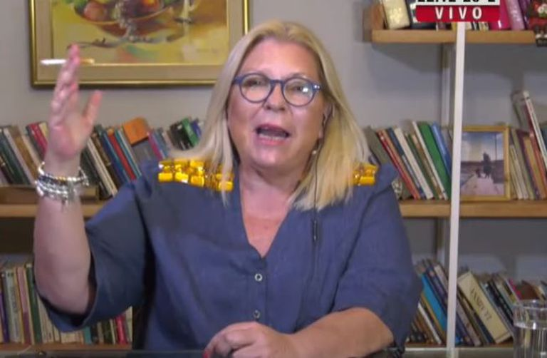 Elisa Carrió vinculó a Aníbal Fernández con un crimen de narcotráfico
