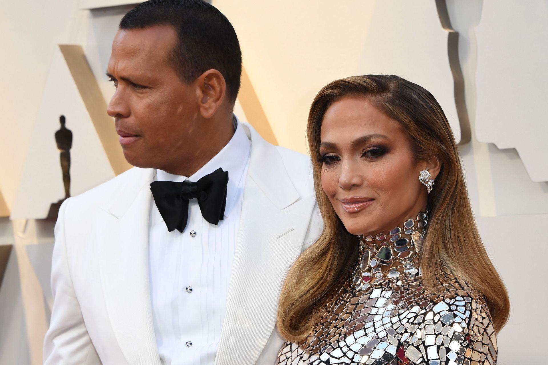 Jennifer Lopez y su novio Alex Rodriguez, a puro glamour