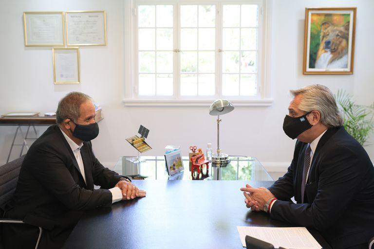 El Presidente se reunió con el secretario general de La Bancaria, Sergio Palazzo