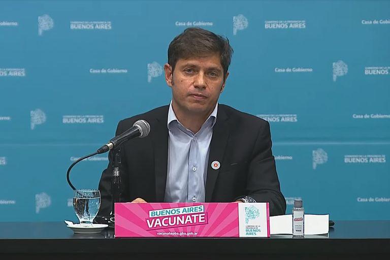 Axel Kicillof en conferencia de prensa el 30 de abril 2021