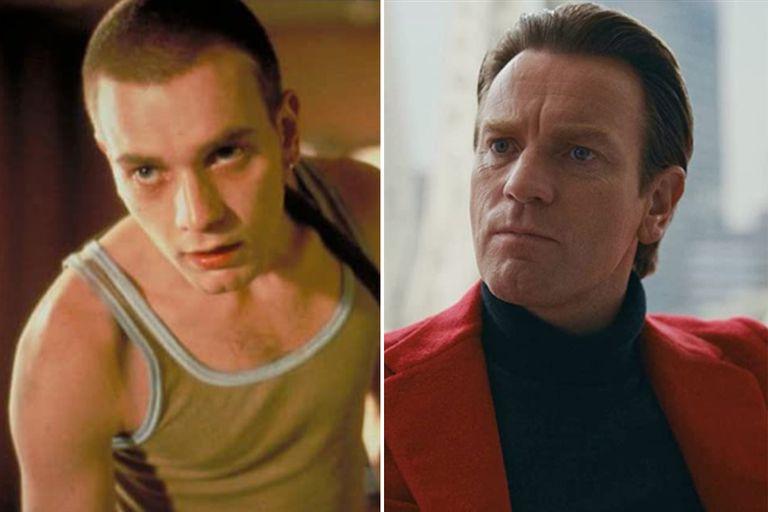 Ewan McGregor a los 25 en Trainspotting, y 25 años después en Halston
