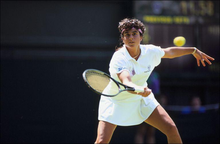 Sabatini, en un gran momento: llegó a la final de Wimbledon sin ceder sets