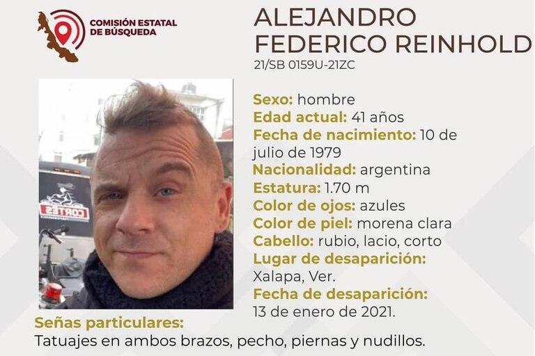 El último contacto de Alejandro Federico Reinhold desde su celular fue el 13 de enero de este año, cuando le comentó a sus amigos que iba a ir al hospital por haber comido pollo en mal estado