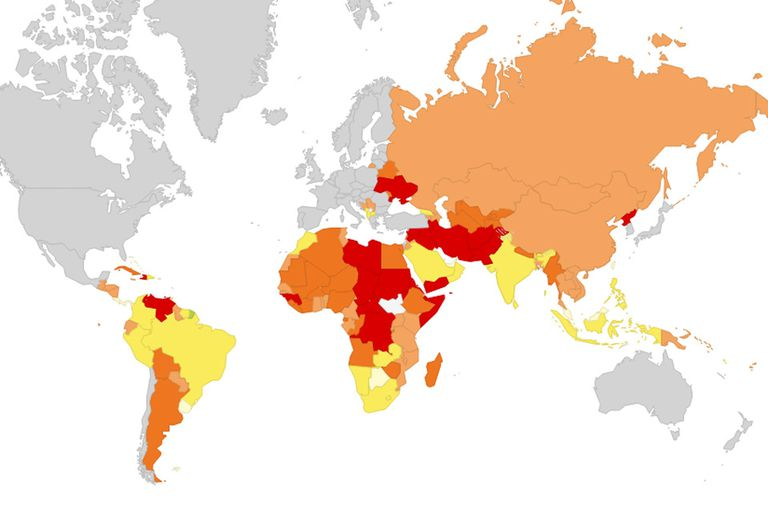 """El """"mapa de riesgo político"""" ubica a los países según seis categorías: Venezuela encabeza el ranking con una decena de países; la Argentina está un escalón por debajo"""