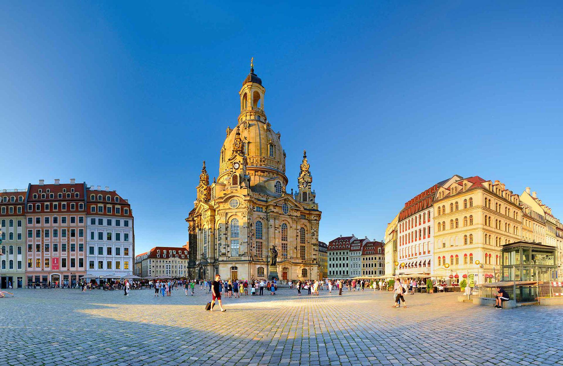 La Frauenkirche, emblema de la reconstrucción de la ciudad.