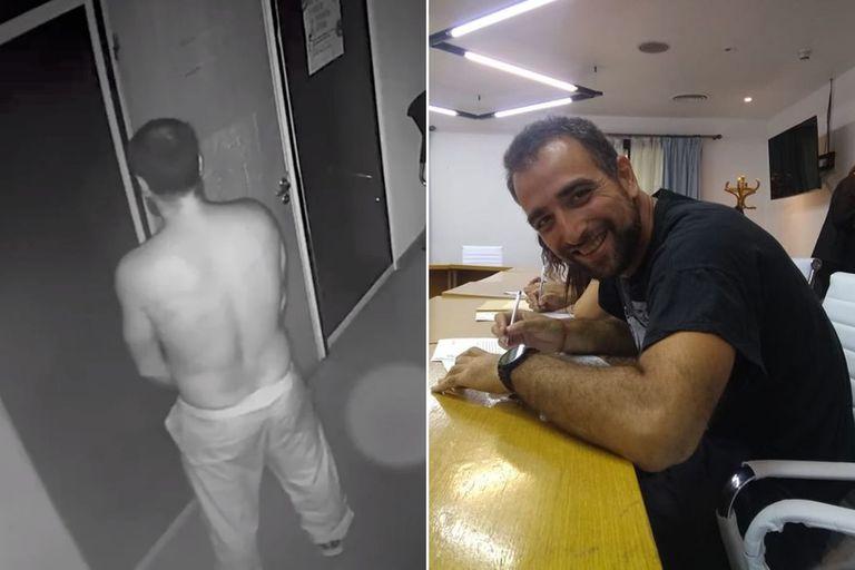 Fernando Yapur había protagonizado un video en el que se lo veía pegando afiches y orinando en la puerta de una de las gerencias
