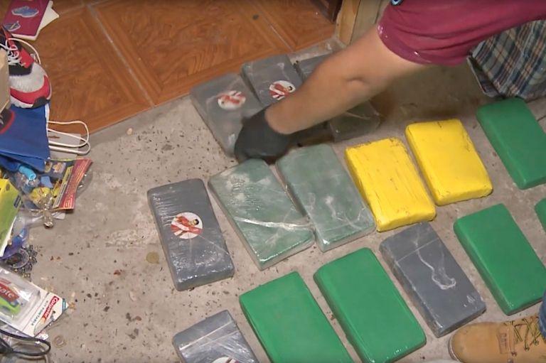 Los ladrillos de cocaína secuestrados a la banda