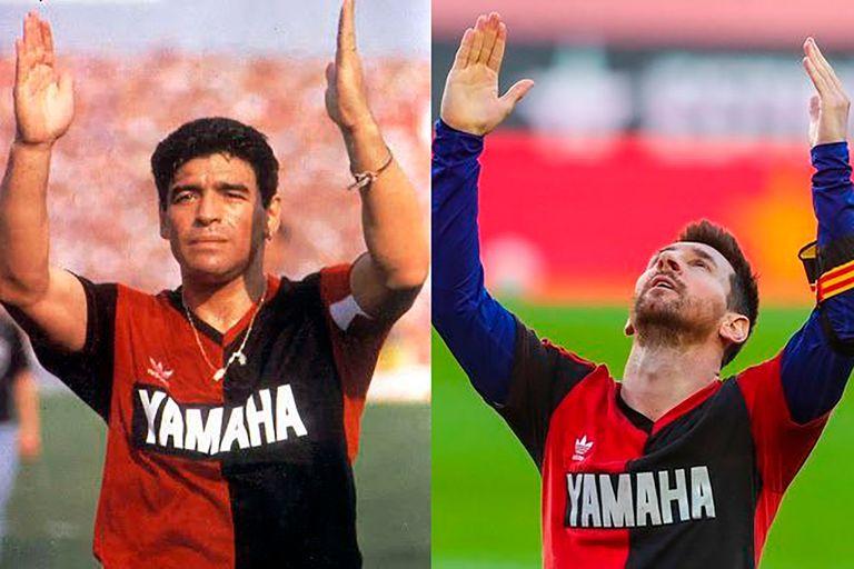 """El homenaje a Diego Maradona en Barcelona, el ensayo de la """"Mano de Dios"""" de Lionel Messi y la camiseta de Newells como tributo"""