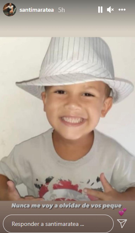 Fede, el nen que ayudó Maratea, murió (Foto: Instagram/@santimaratea)