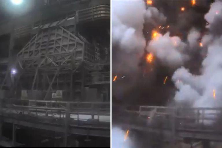 Fuerte explosión en una planta de Ternium en San Nicolás
