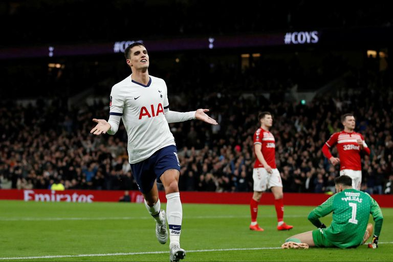 Erik Lamela definió de manera exquisita una jugada personal y puso el 2-0 para Tottenham ante Middlesbrough